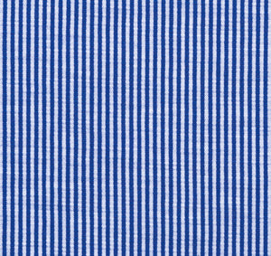 Azure Blue Stripe Knit Stretch Cotton