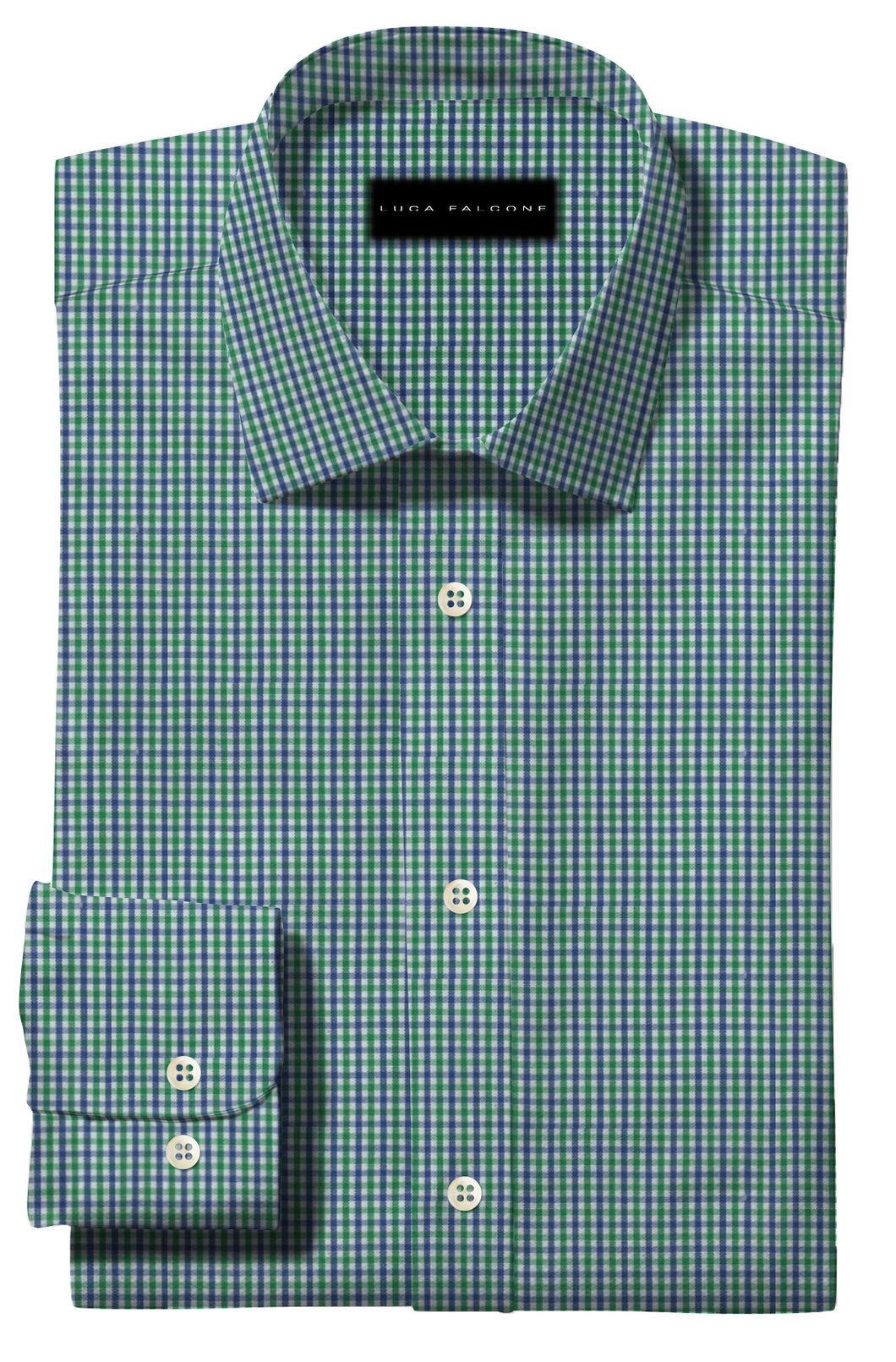 Light Green and Blue Gingham