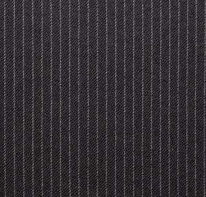 Grey Close Spaced Worsted Pinstripe, Super 160, Wool