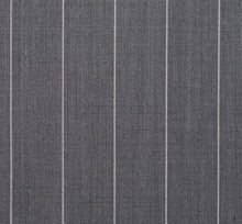 Load image into Gallery viewer, Wide Light Grey Pinstripe, Super 150, Wool