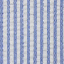 Load image into Gallery viewer, Light Royal Blue Stripe Seersucker