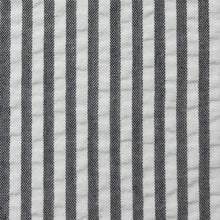 Load image into Gallery viewer, Grey Stripe Seersucker