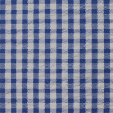 Load image into Gallery viewer, Royal Blue Check Pattern Seersucker