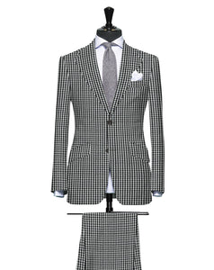 Black Check Pattern Seersucker