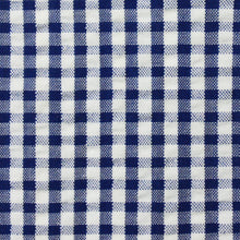 Load image into Gallery viewer, Navy Blue Check Pattern Seersucker