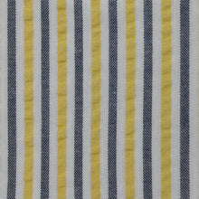 Load image into Gallery viewer, Grey and Yellow Multi Stripe Seersucker