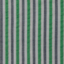 Load image into Gallery viewer, Green and Grey Multi Stripe Seersucker