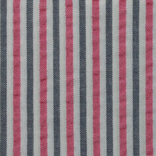 Load image into Gallery viewer, Pink and Grey Multi Stripe Seersucker