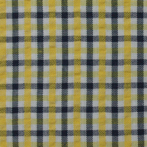 Yellow and Grey Multi Check Pattern Seersucker