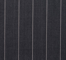 Load image into Gallery viewer, Wide Grey Pinstripe, Super 150, Wool