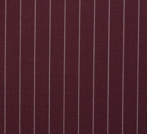 Oxblood Pinstripe, Super 150, Wool