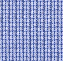Load image into Gallery viewer, Blue Modern Houndstooth Knit Stretch Cotton