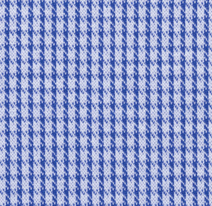 Blue Modern Houndstooth Knit Stretch Cotton