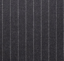 Load image into Gallery viewer, Grey Worsted Pinstripe, Super 160, Wool