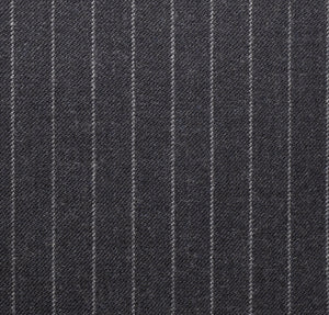 Grey Worsted Pinstripe, Super 160, Wool