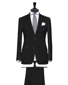 Sartorial Grey Pinstripe, Super 150, Wool