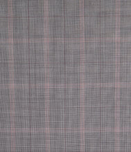 Load image into Gallery viewer, Sartorial Gray with Accents of Pink and Burgundy, Super 150, Wool
