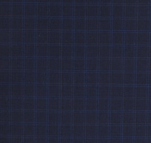 Blue Tone on Tone Check Pattern, Super 150, Wool