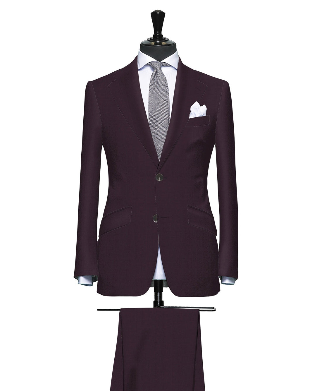 Burgundy Solid, Super 150, Wool