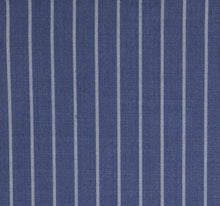 Load image into Gallery viewer, Bold Blue Power Pinstripe, Super 150, Wool