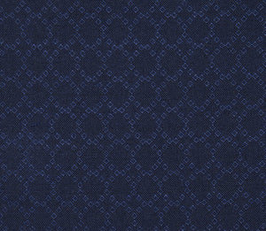 Navy Blue Unique Pattern, Super 150, Wool