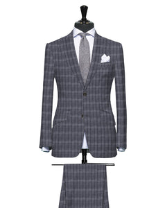 Rich Shades of Grey with Subtle Contrast Pattern, Super 150, Wool