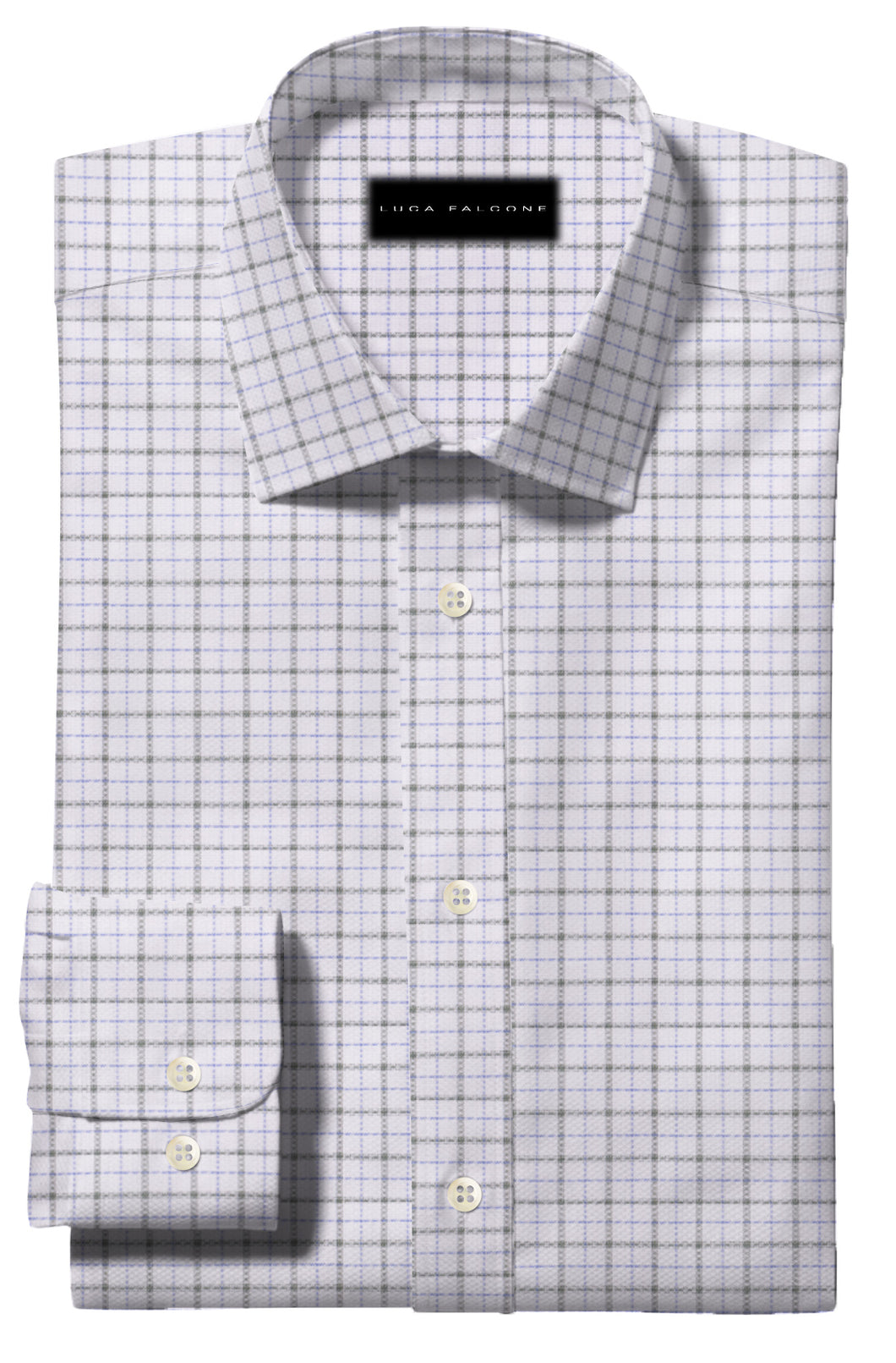 Grey and Blue Check Pattern