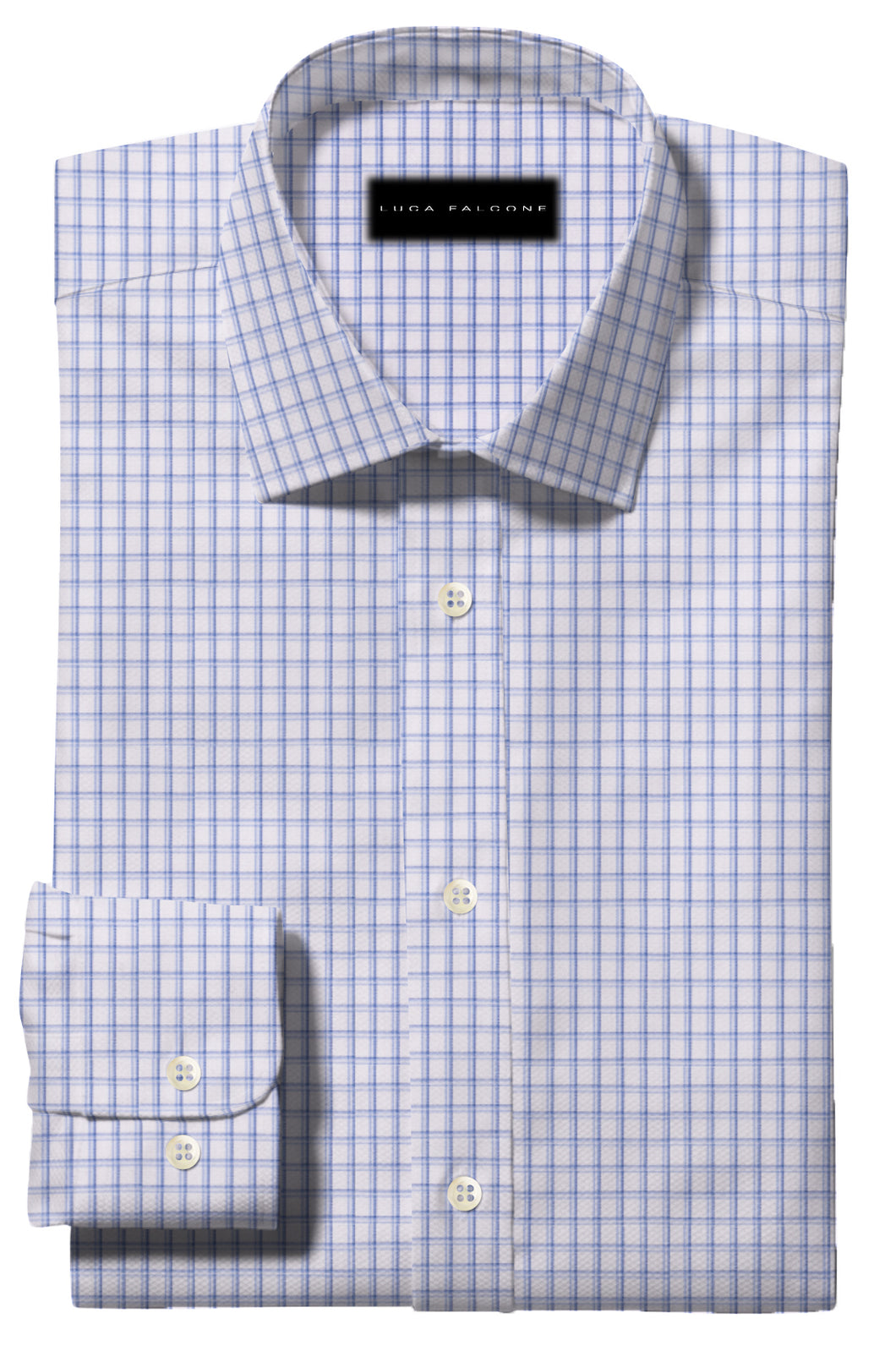 Blue Double Check Pattern