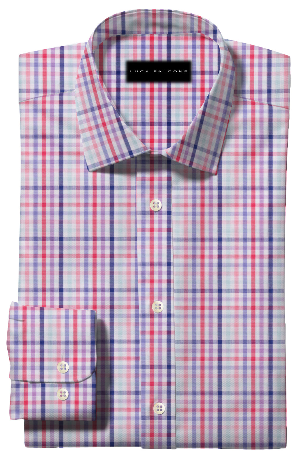 Bold Blue Red and Pink Large Check Pattern