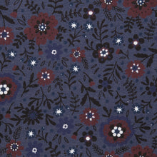 Load image into Gallery viewer, Grayish Blue with Burgundy Floral Design