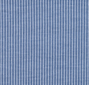 Steel Blue Textured Knit Stretch Cotton