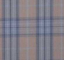 Load image into Gallery viewer, Tan and Light Blue Large Plaid Pattern with Matching Blue Pants, Super 150, Wool