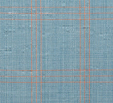 Load image into Gallery viewer, Fresh Light Teal with Sherbet Accent Pattern, Super 150, Wool