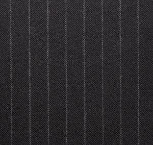 Gray Worsted Pinstripe, Super 160, Wool