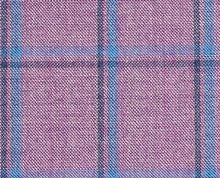 Load image into Gallery viewer, Pink and Azure Bold Windowpane, Super 180, Wool