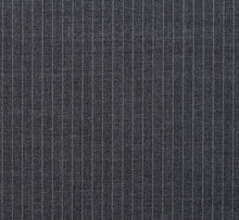 Load image into Gallery viewer, Grey Narrow Width Pinstripe, Super 150, Wool
