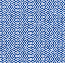Load image into Gallery viewer, Blue Diamond Pattern Knit Stretch Cotton