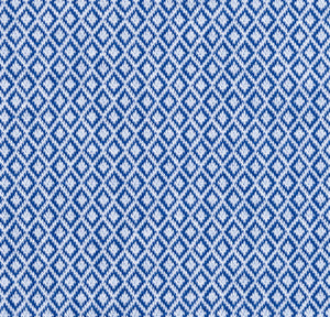 Blue Diamond Pattern Knit Stretch Cotton