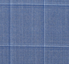 Load image into Gallery viewer, Light Blue Tone on Tone Subtle Windowpane, Super 160, Wool