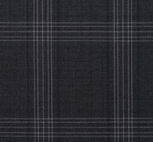 Load image into Gallery viewer, Charcoal with Subtle Blue Contrast Pattern, Super 150, Wool