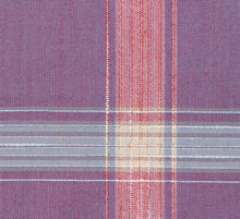 Load image into Gallery viewer, Light Plum, Pink and Blue Large Plaid Pattern, Super 140, Wool