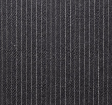 Load image into Gallery viewer, Grey Narrow Width Worsted Pinstripe, Super 160, Wool