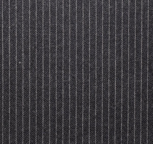 Grey Narrow Width Worsted Pinstripe, Super 160, Wool