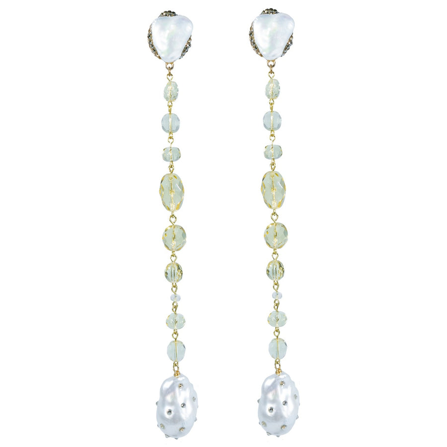 Blanshé Pearl Pigtail Earrings