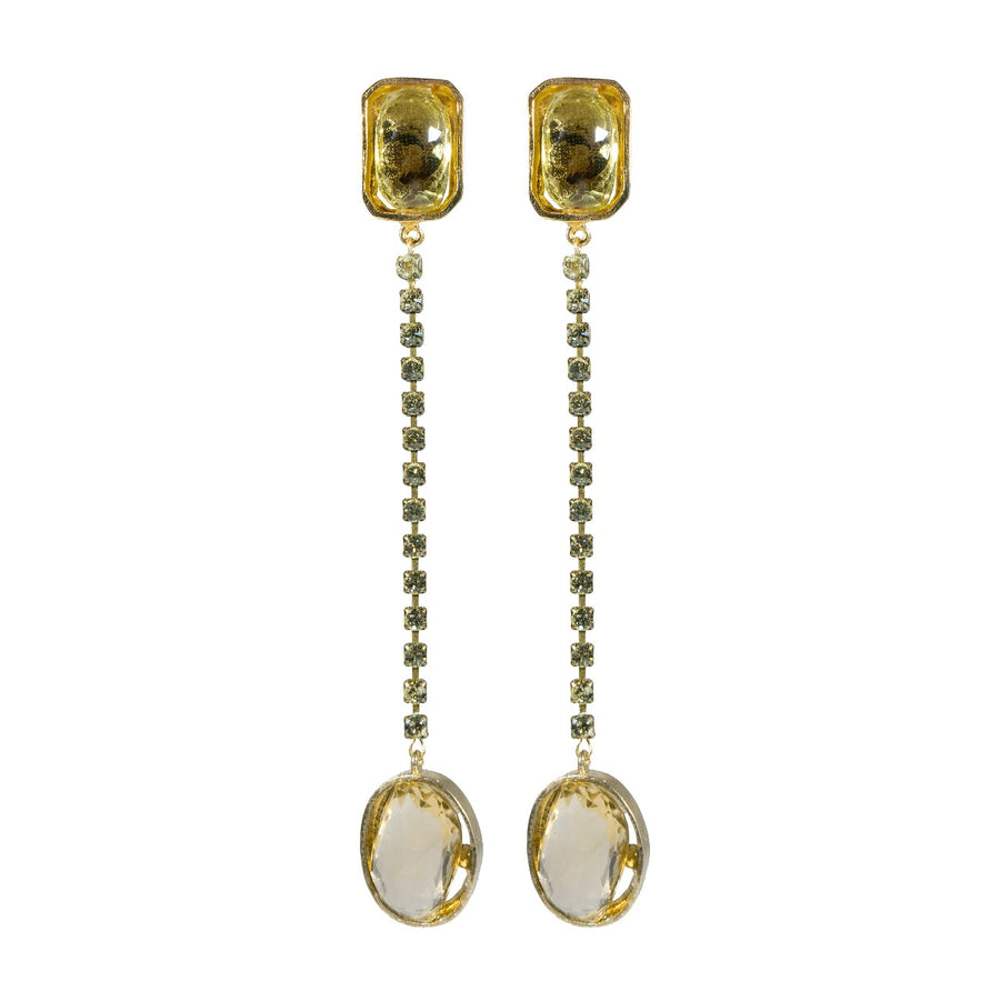 Blanshé Citrine Misfit Earrings