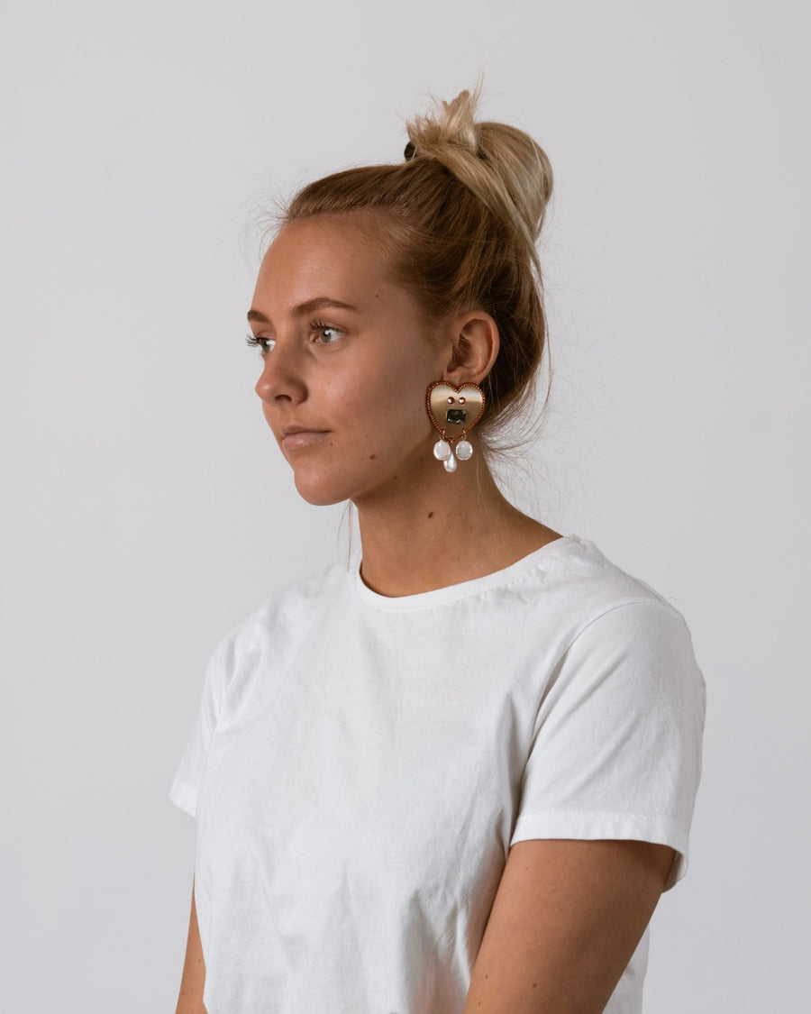 Pearl Split Earrings
