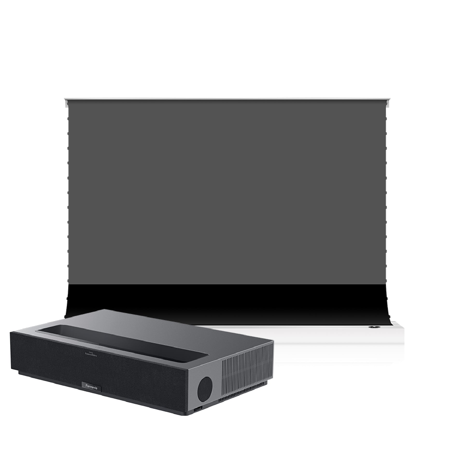 S PRO P Electric Tension Floor Screen With Ultra short Throw Ambient Light Rejecting  【For UST Laser Projector】(Sound Perforated Acoustic Transparent)