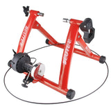 Indoor static bike. Home training bike system with 6 speeds.