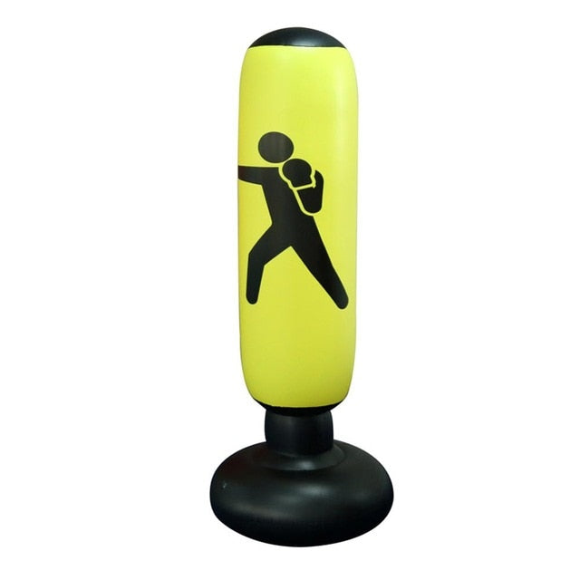 Free standing punching bag. Inflatable Boxing sandbag. Kick Boxing Tumbler Fight Column for Fitness