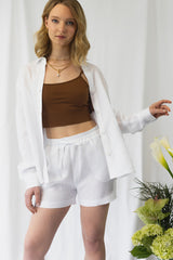 Marshmallow White Shorts